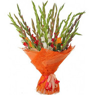 Large bouquet of gladiolus - flowers and bouquets on roza.ck.ua