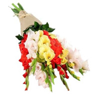 """Gladiolus bouquet in kraft paper"" in the online flower shop roza.ck.ua"