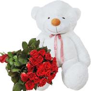 """""""Большой Медведь с розами"""" в интернет-магазине цветов roza.ck.ua"""