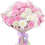 Delicate bouquet of 11 chrysanthemums - flowers and bouquets on roza.ck.ua