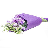 11 violet eustoma in paper - flowers and bouquets on roza.ck.ua