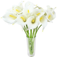 21 white callas - flowers and bouquets on roza.ck.ua