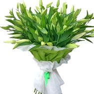 """25 white lilies"" in the online flower shop roza.ck.ua"