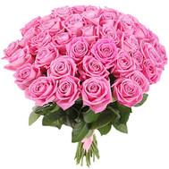 41 розовая роза - цветы и букеты на roza.ck.ua