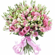 """51 eustoma in a tender bouquet"" in the online flower shop roza.ck.ua"