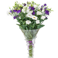 White and violet eustomams in a bouquet - flowers and bouquets on roza.ck.ua