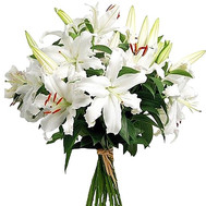 """White lilies in a bouquet"" in the online flower shop roza.ck.ua"