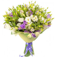 Large bouquet of eustoma - flowers and bouquets on roza.ck.ua