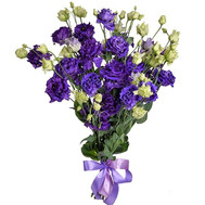 Bouquet of purple and white eustoma - flowers and bouquets on roza.ck.ua