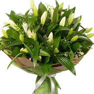 """Bouquet of lilies in paper wrapping"" in the online flower shop roza.ck.ua"