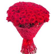 Чудесный букет из 81 красной розы - цветы и букеты на roza.ck.ua