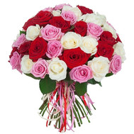 """Charming bouquet of 51 roses"" in the online flower shop roza.ck.ua"