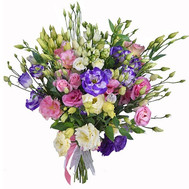Multicolored eustoma in bouquet - flowers and bouquets on roza.ck.ua
