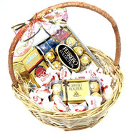 """""""Basket of sweets and coffee Lavazza"""" in the online flower shop roza.ck.ua"""