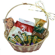 Basket of coffee and sweets - flowers and bouquets on roza.ck.ua