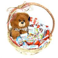 Корзина со сладостями Kinder - цветы и букеты на roza.ck.ua