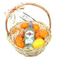 """Gift Basket with Martini"" in the online flower shop roza.ck.ua"
