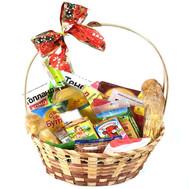 Подарочная корзина с сыром и вином - цветы и букеты на roza.ck.ua