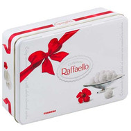 Raffaello candies in a metal box - flowers and bouquets on roza.ck.ua