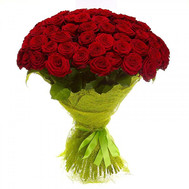 """Large bouquet of red roses"" in the online flower shop roza.ck.ua"