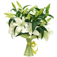 """Bouquet of white lilies"" in the online flower shop roza.ck.ua"