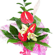 """Bouquet of anthurium"" in the online flower shop roza.ck.ua"