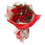 Bouquet of red carnations - flowers and bouquets on roza.ck.ua