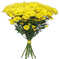 """Bouquet of yellow chrysanthemums"" in the online flower shop roza.ck.ua"