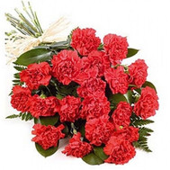 Cascade bouquet of carnations - flowers and bouquets on roza.ck.ua