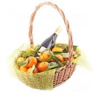 Корзина с мандаринами на Новый год - цветы и букеты на roza.ck.ua