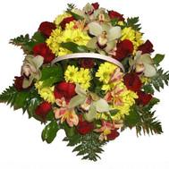 Красивая корзина цветов - цветы и букеты на roza.ck.ua
