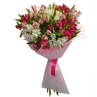 Fashion bouquet of alstroemerias - flowers and bouquets on roza.ck.ua