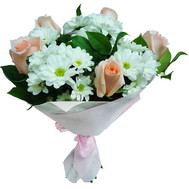 A gentle bouquet of flowers - flowers and bouquets on roza.ck.ua