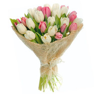 """Delicate bouquet of tulips"" in the online flower shop roza.ck.ua"