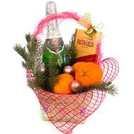 Новогодний набор - цветы и букеты на roza.ck.ua