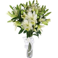 """A charming bouquet of lilies"" in the online flower shop roza.ck.ua"