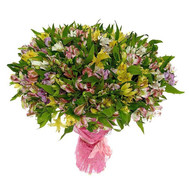 """A huge bouquet of alstroemerias"" in the online flower shop roza.ck.ua"