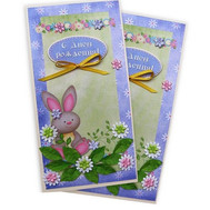 Birthday card with a rabbit - flowers and bouquets on roza.ck.ua