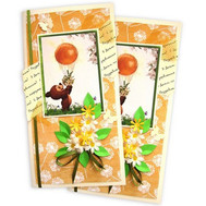 Postcard with a happy birthday in orange color - flowers and bouquets on roza.ck.ua
