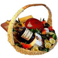 """Gift basket - For men"" in the online flower shop roza.ck.ua"