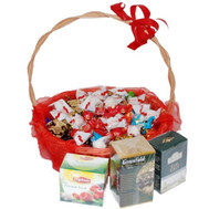 """Gift basket of sweets and tea"" in the online flower shop roza.ck.ua"