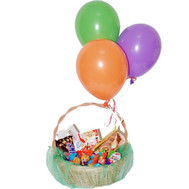Gift basket of chocolates and balls - flowers and bouquets on roza.ck.ua