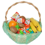 Gift basket of sweets and fruits - flowers and bouquets on roza.ck.ua
