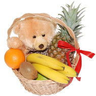 """Gift basket of fruit and teddy bear"" in the online flower shop roza.ck.ua"