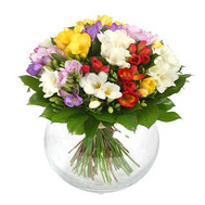 """Charming bouquet of freesias"" in the online flower shop roza.ck.ua"