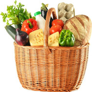 """Food basket - Sun gifts"" in the online flower shop roza.ck.ua"