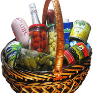 """Food basket - Gourmet"" in the online flower shop roza.ck.ua"