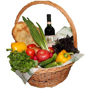 Food basket - Vegetable mix - flowers and bouquets on roza.ck.ua