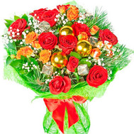 Christmas bouquet - flowers and bouquets on roza.ck.ua