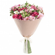 """Nice bouquet of alstroemerias"" in the online flower shop roza.ck.ua"